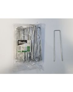 Weed matting metal hold down pegs/staples 30mmx 150mm (PACK OF 100)