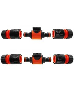 Cost Wise snap on male -male in line valve kit black/orange