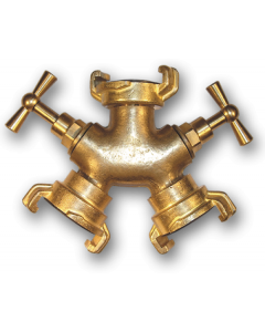 Geka brass - 3 way connector with bib taps
