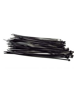 100 CABLE TIES 2.5mm x 200mm BLACK