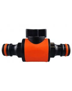 Cost Wise snap on male -male in line valve black/orange