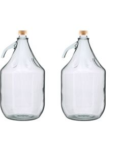 GLASS DEMIJOHN 5L WITH SCREW TOP CAP