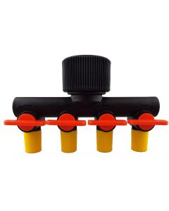 4 Way Manifold with valves for Micro tube