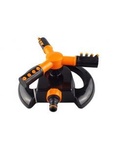 3 ARM black orange  rotating lawn sprinkler