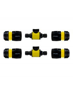 Cost Wise snap on male -male in line valve kit yellow/black