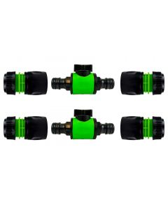 Cost Wise snap on male -male in line valve kit black/green