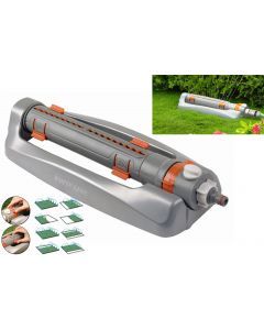 Metal variable-width oscillating sprinkler WHITE LINE
